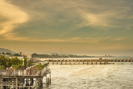 fareast: evening view of the pier in Hua Hin, Thailand.