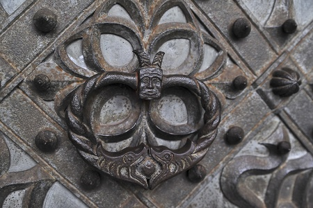 church knocker Stock Photo