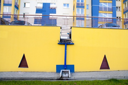 colourful design of the car parking in Minsk photo