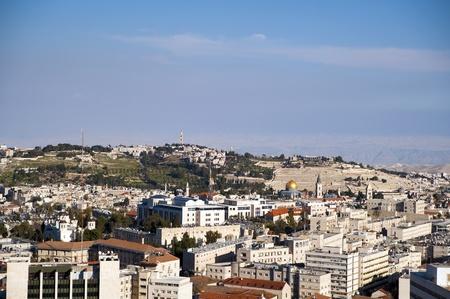 Jerusalem landscape from the highest spot of city center photo
