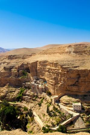 landsape: Landsape of monastery in Judea desert in Palestine