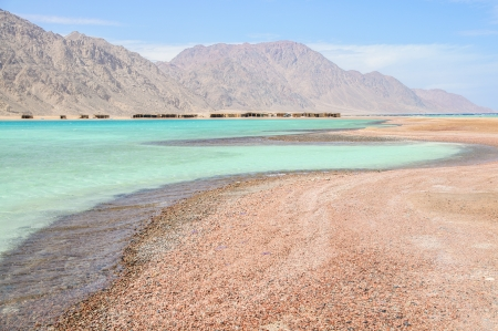 scenic lagoon in the Red Sea near Ras Abu Galum