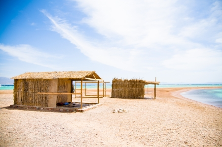 shanty: tourist shanty on the beach of Red Sea