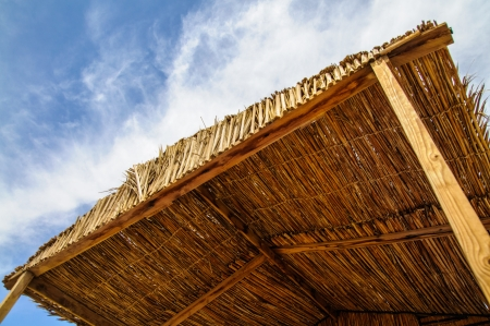 hovel: sunshade of the hovel in the Red Sea resort Stock Photo