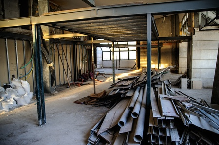 Interior construction site in downtown of Jerusalem Stock Photo