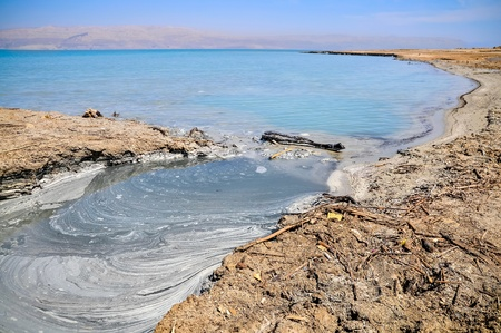 view on conversions of the Dead Sea coast photo