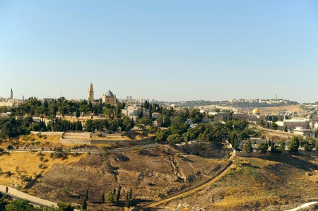 View on the Dormition Abbey and Dome of the Rock photo