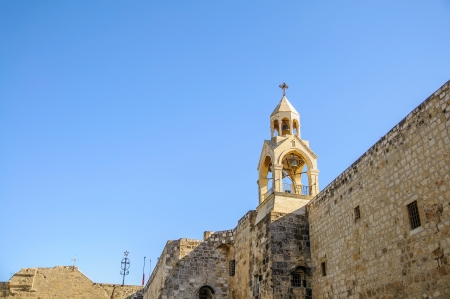 Tower of the Nativity church, Bethlehem, Palestine, Israel