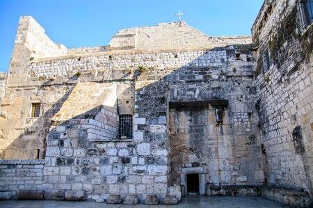 The Entrance to Nativity church, Bethlehem, Palestine Stock Photo - 17004458