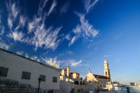 Tower of Salesian Church in Bethlehem, Christmas time Stock Photo - 17004395