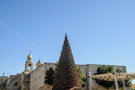 Christmas tree near the Nativity church, Bethlehem, Palestine Stock Photo - 18298869