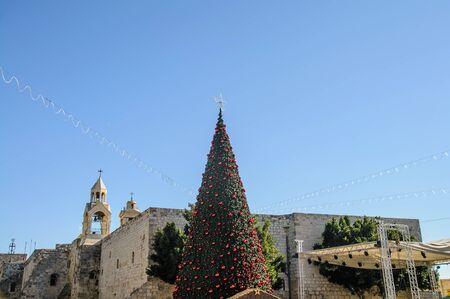 Christmas tree near the Nativity church, Bethlehem, Palestine Stock Photo - 18298869