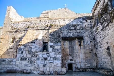 The Entrance to Nativity church, Bethlehem, Palestine