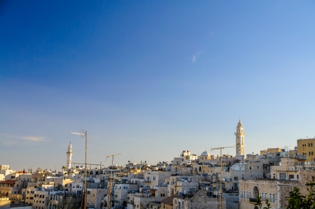 Landscape of Bethlehem during the Christmas, Palestine Stock Photo