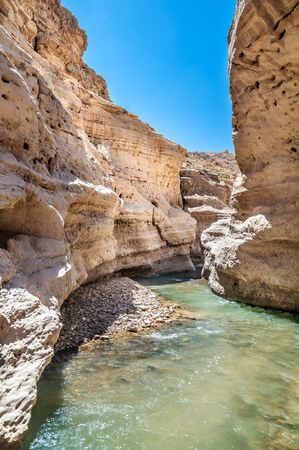 Water flows through the Western Jordan in Wadi Hasa photo
