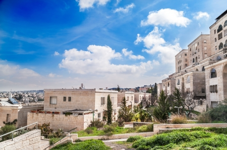 View on residential district in Jerusalem, Israel Stock Photo