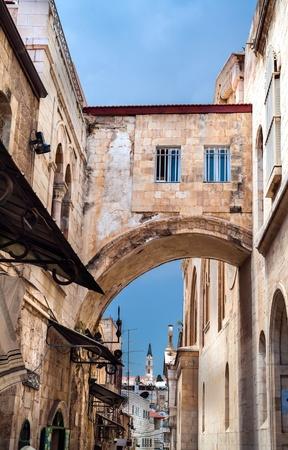 Narrow street in the OLd City of Jerusalem