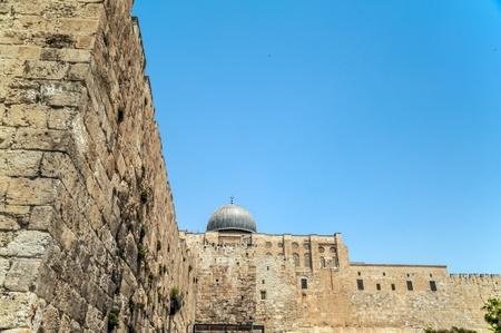 View on Al-Aqsa mosque, Jerusalem Old City photo
