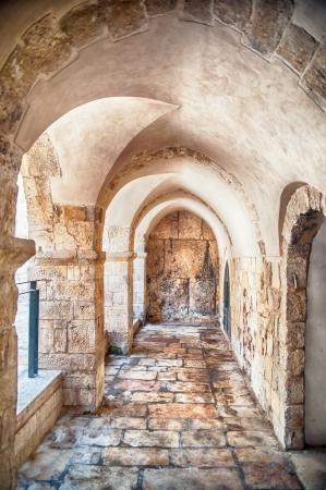 passage: Passage in the OLd City of Jerusalem Stock Photo
