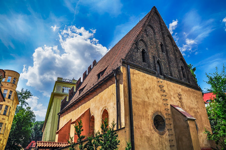 Old synagogue in Jewish Quarter of Prague Stock Photo - 22871024