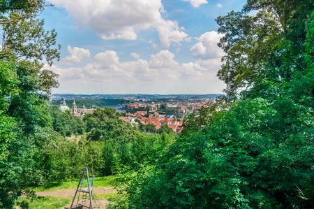 Landscape of Prague from recreation park, Czech Republic Stock Photo
