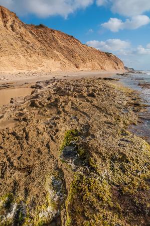 Landscape of the rocky coast, blue sky