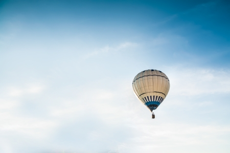 Air balloon on the blue sky  photo