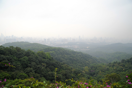 Landscape of the city from the mountain viewpoint