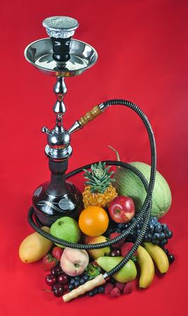 Natural organic tropical fruits mix for hookah Stock Photo