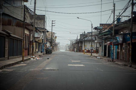 A view on the empty street before the storm Editorial