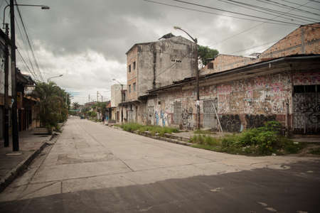 Empty streets during Peruvian lockdown in Iquitos