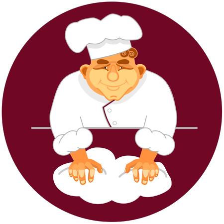 haciendo pan: Vector ilustraci�n de la elaboraci�n del pan panadero Vectores
