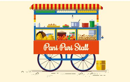indian street Food Pani Puri Stall
