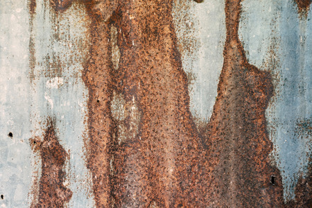 Close - up of the rust on zinc and pattern of brown rust, The old zinc with the dot of rust, Abstract background by rust. Stock Photo