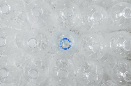 Top view of plastic bottles and recycling, Plastic waste problem and garbage bottles pollution. Empty bottles for recycle, Campaign to reduce the use of plastic. - Environment concept and save world Stock fotó