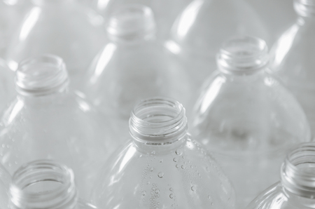 Close Up of plastic bottles and recycling, Plastic waste problem and garbage bottles pollution. Empty bottles for recycle, Campaign to reduce the use of plastic. - Environment concept and save world Stock fotó