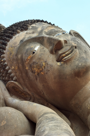 idolatry: Face Buddha in temple in Ayutthaya of Thailand