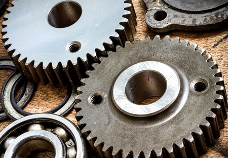 Parts and gears made from special hard steel photo
