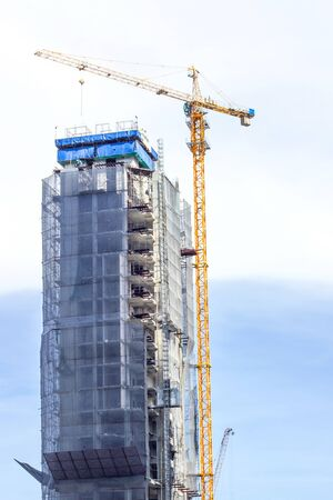 construction of large office buildings in the heart of bangkok photo