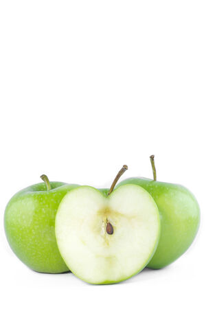 weight control: Green apples fresh for weight control ready to eat Stock Photo