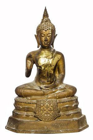 budda: Buddha statue thai art isolated on white background Stock Photo