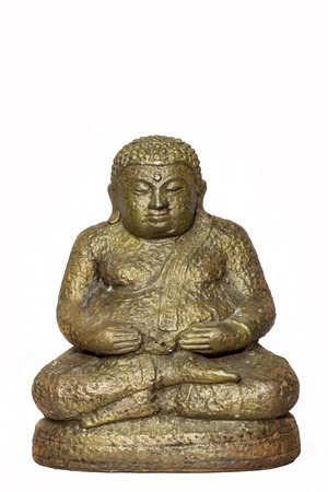 Buddha statue thai art isolated on white background photo