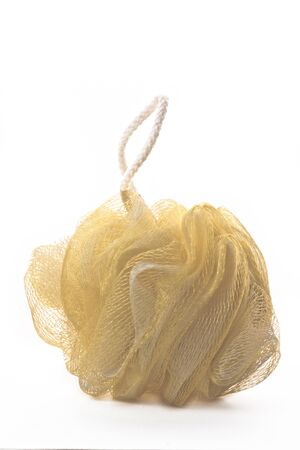 yellow nylon sponge