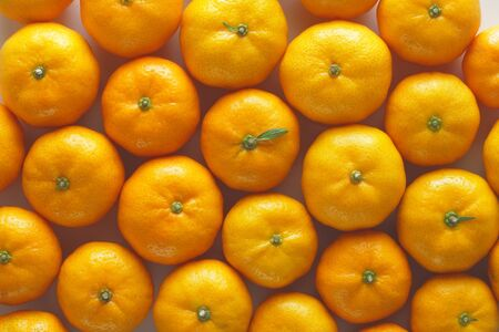 Lots of oranges forming an arrangement ideal for backgrounds and textures photo