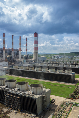 Production line in thermal power plant. Stock Photo