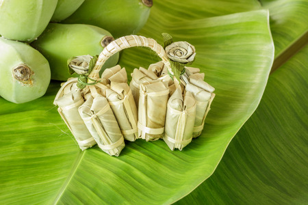 sugarplum: Banana candy, Thai style sweet candy. It is very sweet and sticky. Stock Photo