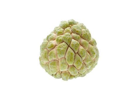 chirimoya: Fruta chirimoya aislada en el fondo blanco.