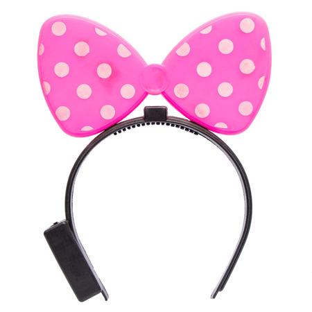 headband: Funny pink headband isolated on white background.