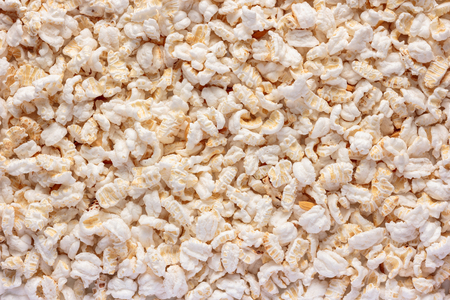 popped: Popped rice as background. Stock Photo