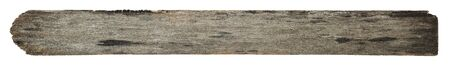Old wood plank with texture isolated on white background. photo